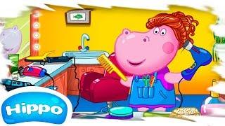 Гиппо 🌼 Видео с загадкой! 🌼 Парикмахерская для девочек 🌼 Мультфильм Обзор игры (Hippo)