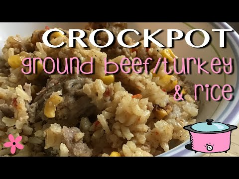 Cook With Me: CROCKPOT Ground Beef & Rice (EASY Recipe - Dump & Go)