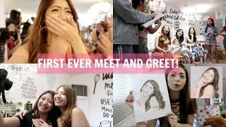 MY FIRST EVER MEET AND GREET + GIFTS FROM MY #famAULIE! 😭❤️