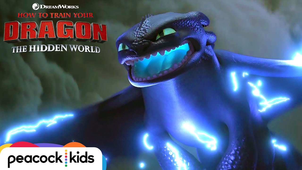 How To Train Your Dragon The Hidden World Toothless Powers Up Youtube