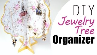 Diy: Easy Jewelry Organizer Tree For Your Accessories