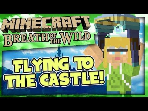 Minecraft Zelda Breath Of The Wild - Part4 - Sail Cloth Gliding
