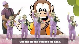 """5 Little Monkeys""| Nursery Rhyme | BlackBerry Jam Kids Music"