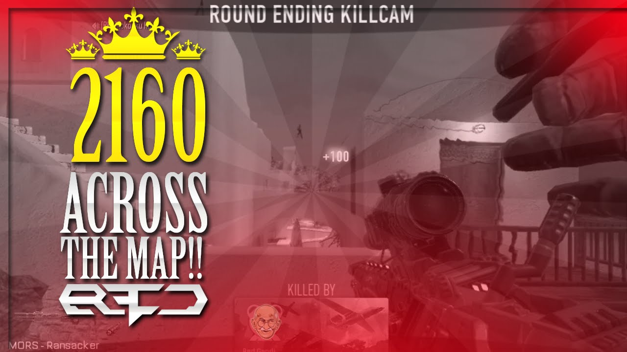 Red Gandhi   First Shot in Red! (2160 ACROSS THE MAP) - This is probably the best shot I will EVER hit on Call of Duty.