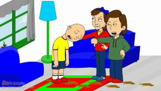 Caillou Steps In Dog Poop And Gets Grounded