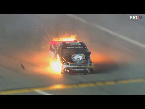 NASCAR Camping World Truck Series 2018. Daytona International Speedway. Jennifer Jo Cobb Hard Crash