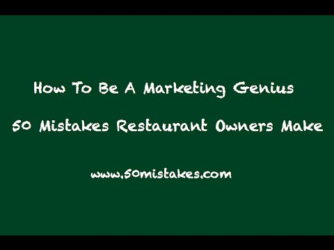 How To Be a Marketing Genius   How to Increase Sales in Your Restaurant