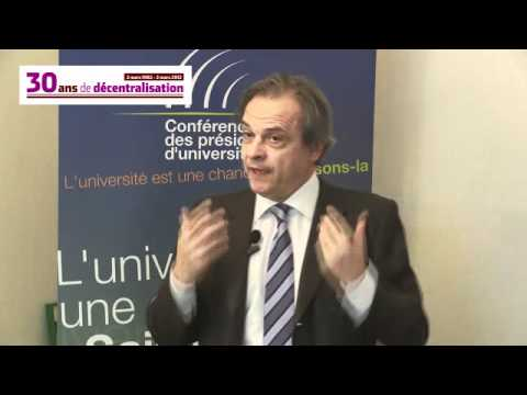 Louis Vogel, président de la conférence des présidents d'universitésl (version longue)