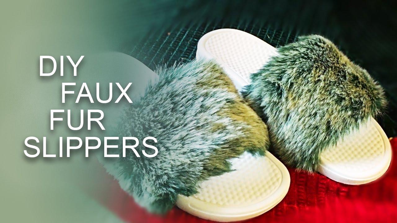 0aeaf7de22bd EASY DIY Fur Slides