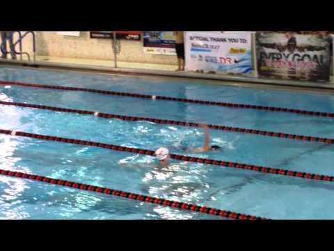 Derek Gould races Olympic medlist Nick Thoman