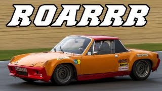 loud porsche 914 6 gt roaring around the track