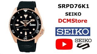 SRPD76K1 Seiko 5 Sports Seiko Automatic Black Dial .... DCMStore