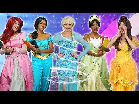 DISNEY PRINCESS MAGICAL SCHOOL. With Elsa, Belle, Ariel, Tiana and Jasmine. Totally TV Parody 2019