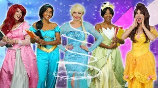 DISNEY PRINCESS MAGICAL SCHOOL. With Elsa, Belle, Ariel, Tiana and Jasmine. Totally TV Parody 2019