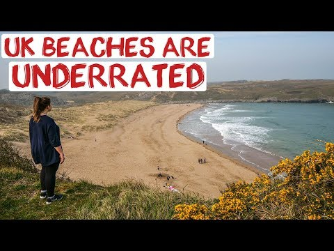 South Wales Beaches | Pembrokeshire Coast Day Out | England Road Trip Travel Vlog 22