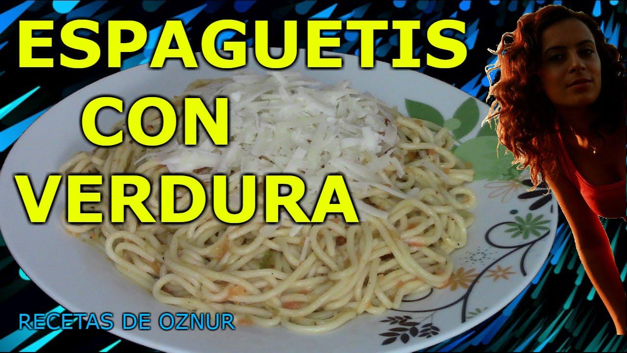 Espaguetis con verduras recetas de cocina faciles for Comidas ricas y faciles de preparar