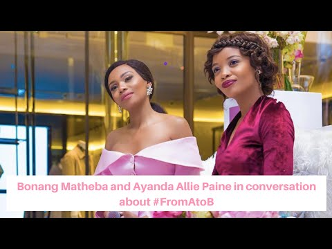 Bonang Matheba and Ayanda Allie Payne in discussion about her autobiography