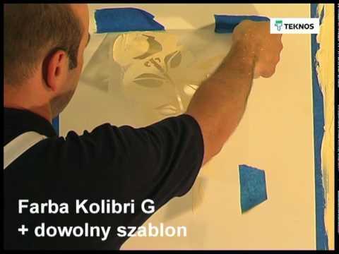 Tworzenie Efektów Dekoracyjnych Przy Użyciu Farb Teknos Cz 1