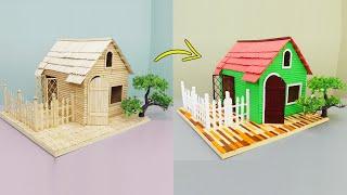 아이스 스틱으로 귀여운 집을 만드는 방법