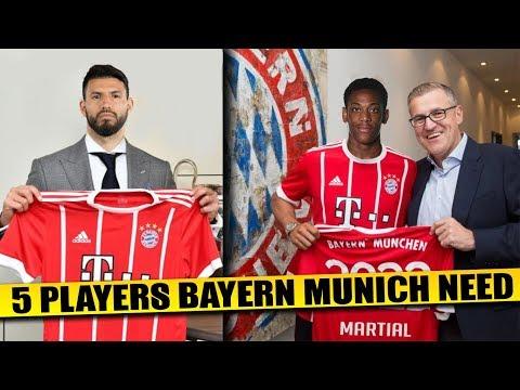 BAYERN MUNICH Transfer News | 5 Players Bayern Munich Needs To Regain Dominance ft Aguero & Martial