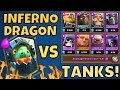 Clash Royale INFERNO DRAGON vs ALL THE TANKS! [NEW CARD]