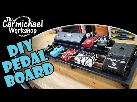 Make a DIY Custom Guitar Effects Pedal Board out of Wood