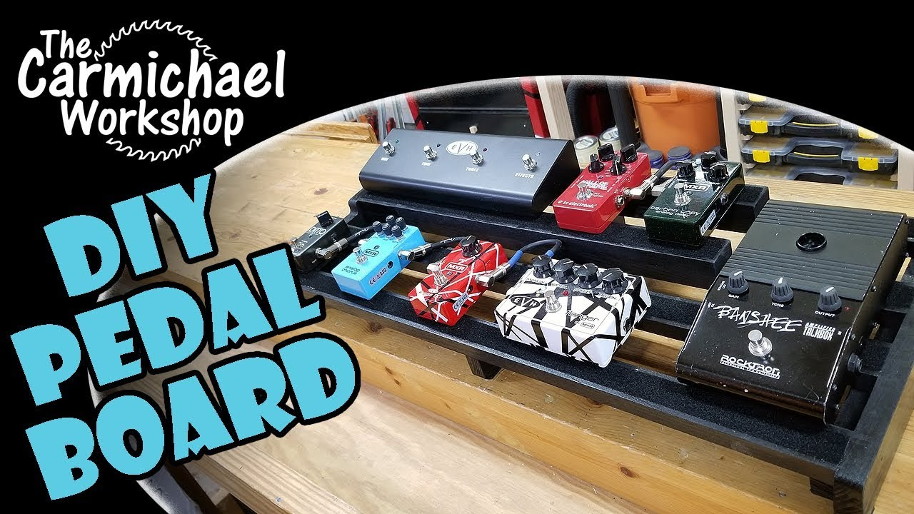 make a diy custom guitar effects pedal board out of wood youtube. Black Bedroom Furniture Sets. Home Design Ideas