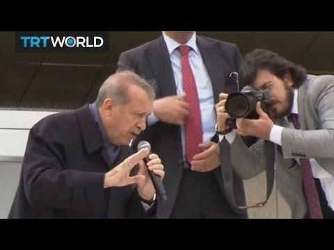 Crowds of supporters greet Turkey's Erdogan in Ankara