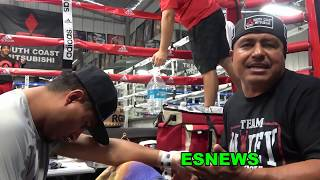 Robert Garcia & Mikey Recall Times With Pelos Garcia In The Gym EsNews Boxing
