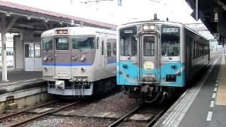 四国琴平駅を発車する国鉄キハ54形気動車