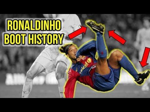 RONALDINHOS FOOTBALL BOOT HISTORY
