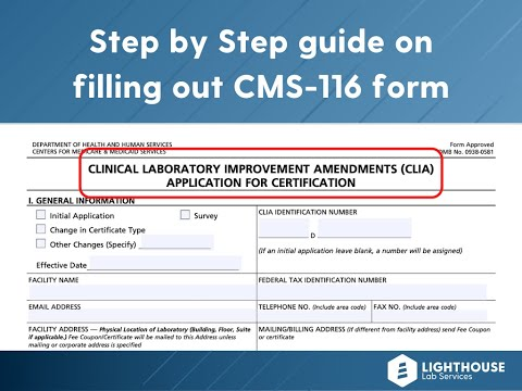 How To Apply For A CLIA Certificate? Filling Out CMS-116 Form