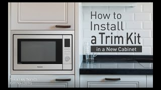 how to install a panasonic trim kit in