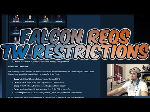 Han's Falcon Requirements + TW Restrictions Announced| Star Wars: Galaxy Of Heroes