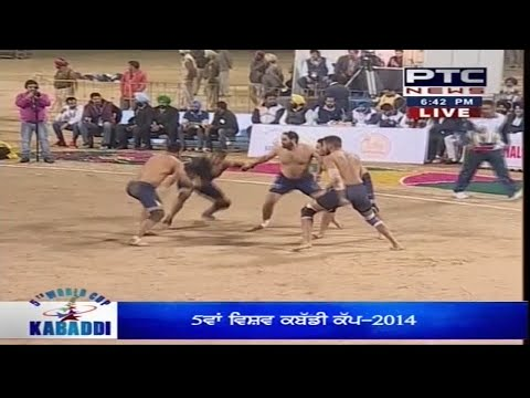 Sweden vs England | Men's | Day 1 | 5th World Cup Kabaddi Punjab 2014