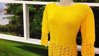 Claudia Maria – Blusa em tricô e crochê