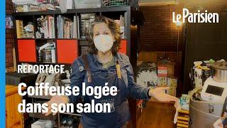 Touchée par la crise, elle habite dans son salon de coiffure