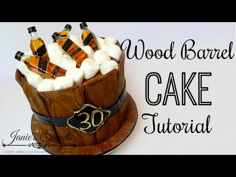 WOOD BARREL CAKE TUTORIAL    Janie's Sweets