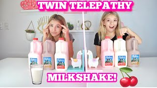 TWIN TELEPATHY MILKSHAKE CHALLENGE! | QUINN SISTERS