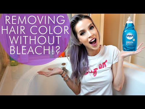 Removing Hair Color WITHOUT Bleach!?   Hair Experiment