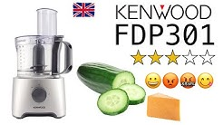 🇬🇧Kenwood FDP301 Multi-Pro Compact Food Processor : chopping cucumber 🥒 & grating cheese 🧀