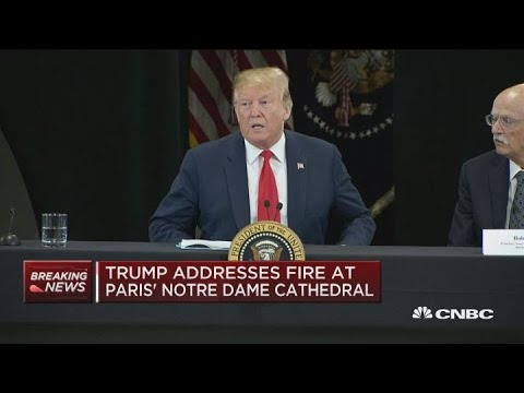 Trump weighs in on Notre Dame Cathedral fire