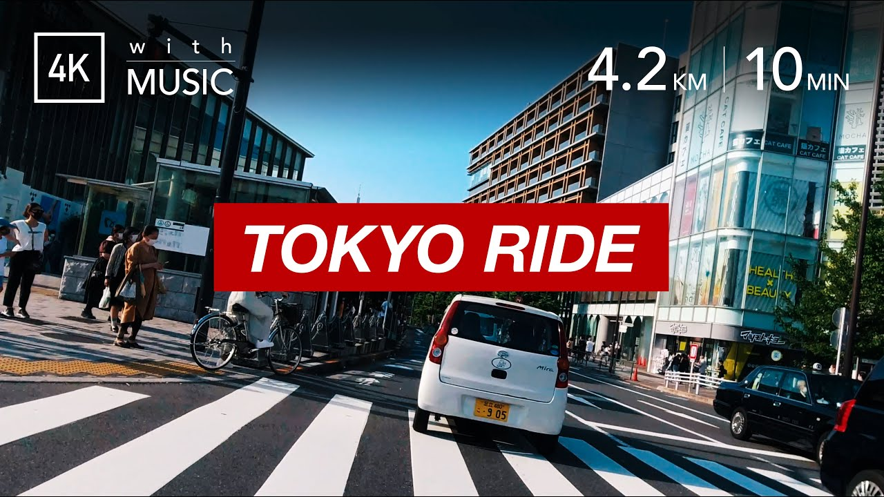 TOKYO RIDE | 代々木公園〜原宿〜青山 [4K/60fps] streets around Harajuku, riding a scooter. 街乗りバイク車載動画