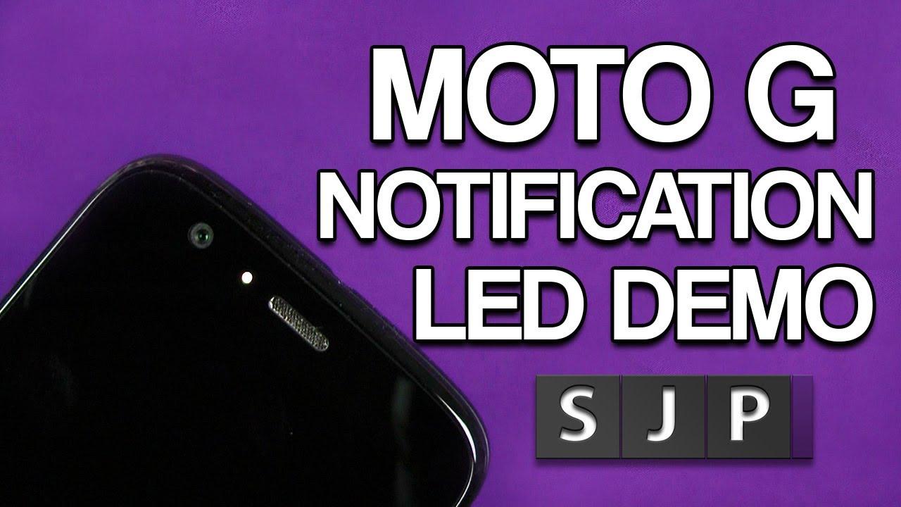 motorola moto g led notification demo youtube. Black Bedroom Furniture Sets. Home Design Ideas