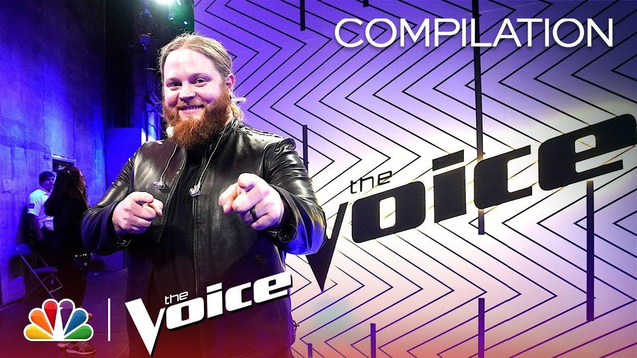 Chris Kroeze's Journey on The Voice - The Voice 2018 (Compilation)