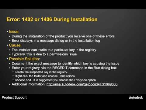 Troubleshooting Common Install Problems
