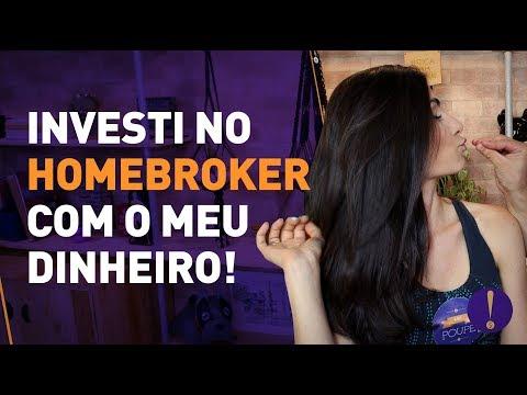PASSO A PASSO PRA USAR O HOMEBROKER! Investi o meu dinheiro de verdade!
