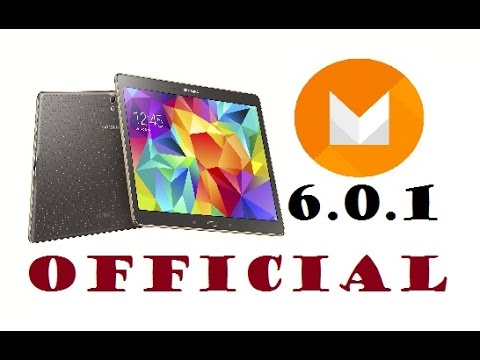 Official Galaxy Tab S 6 0 1 Marshmallow Update (Quick look)