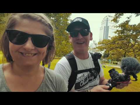 Exploring Bangkok Thailand:  Lumpini Park and mobile toilets discovered