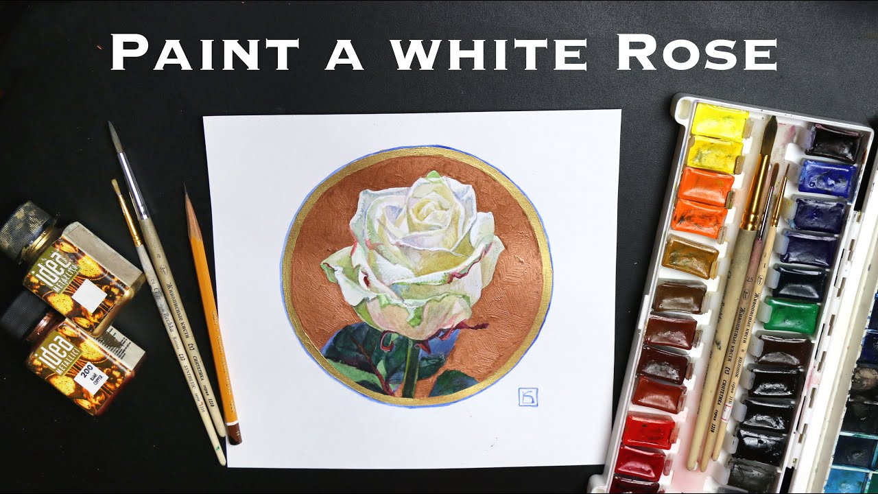 How to Draw a Rose / How to Paint a Rose